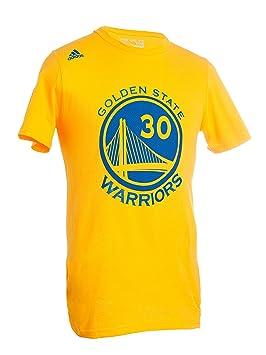 Adidas - Camiseta de NBA Golden State Warriors-Stephen Curry # 30-Mesh Logo Camiseta - 1816893, S, Dorado: Amazon.es: Deportes y aire libre