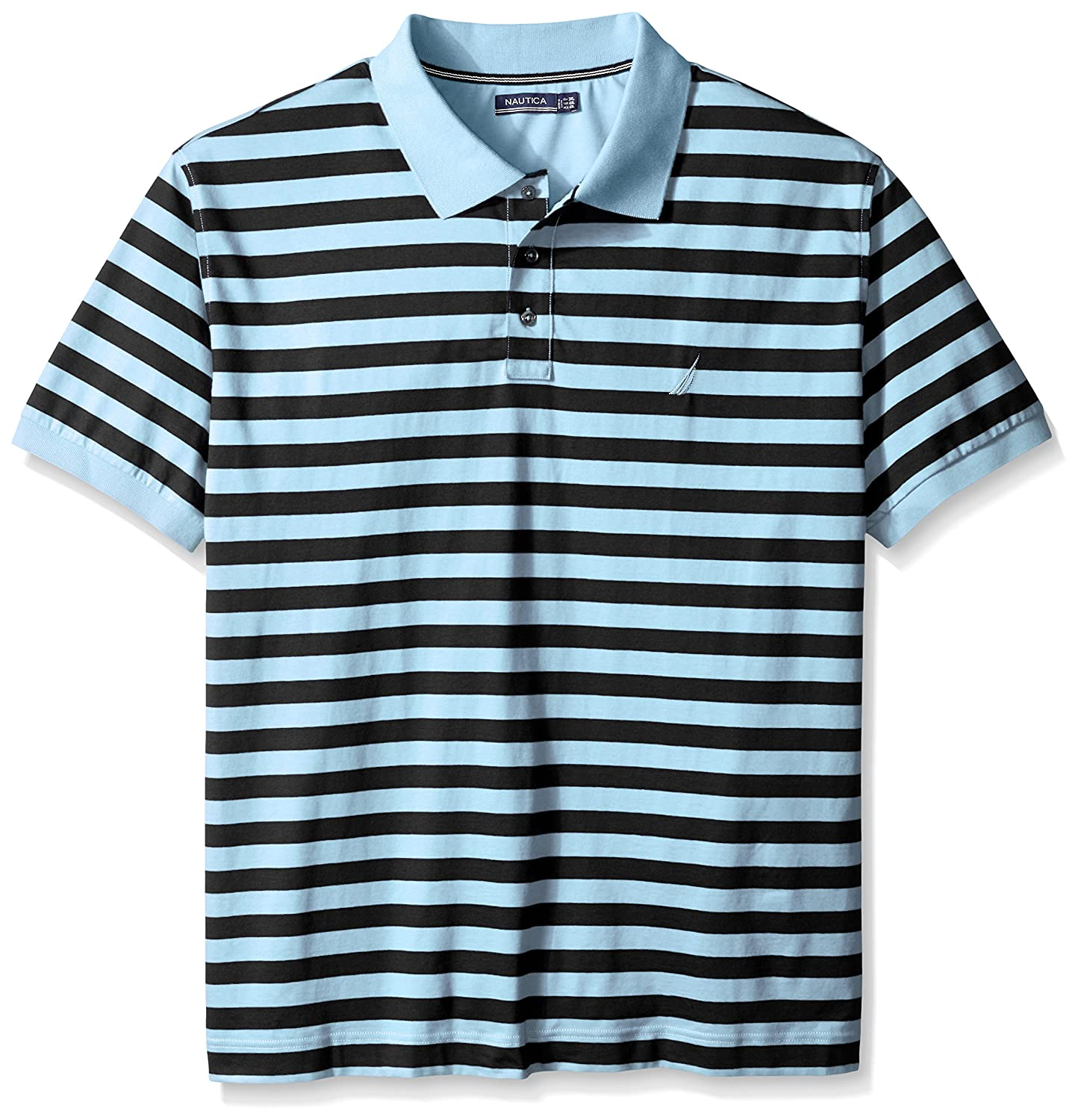 Nautica Mens Big-Tall Striped Polo Shirt, Cool Breeze, 1X-Large ...
