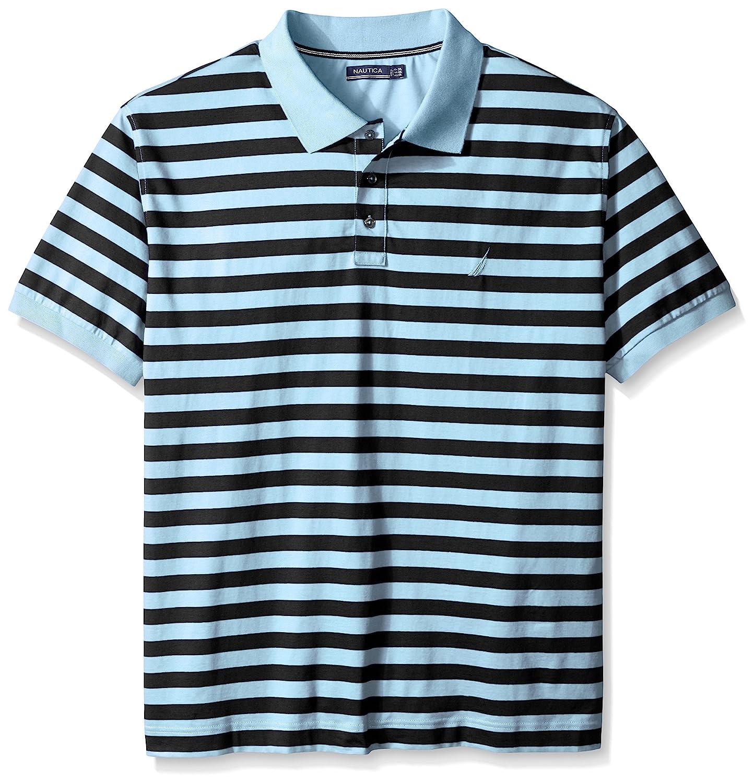 Nautica Mens Big-Tall Striped Polo Shirt, Cool Breeze, 1X-Large ...