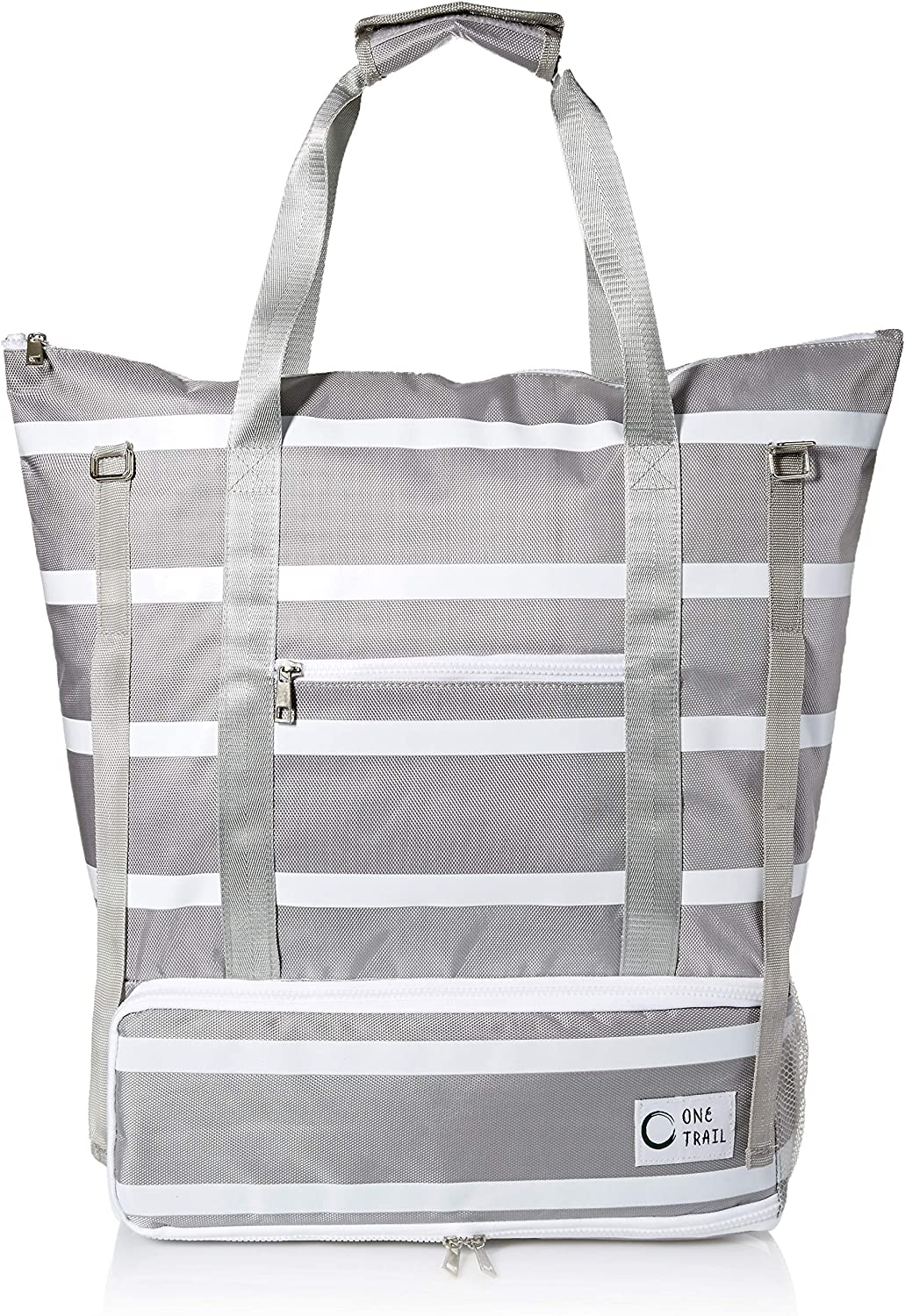 OneTrail Day-Tripper Cooler Tote Hybrid Cooler and Tote Bag-in-One Water Resistant and Wipeable Exterior Large Capacity