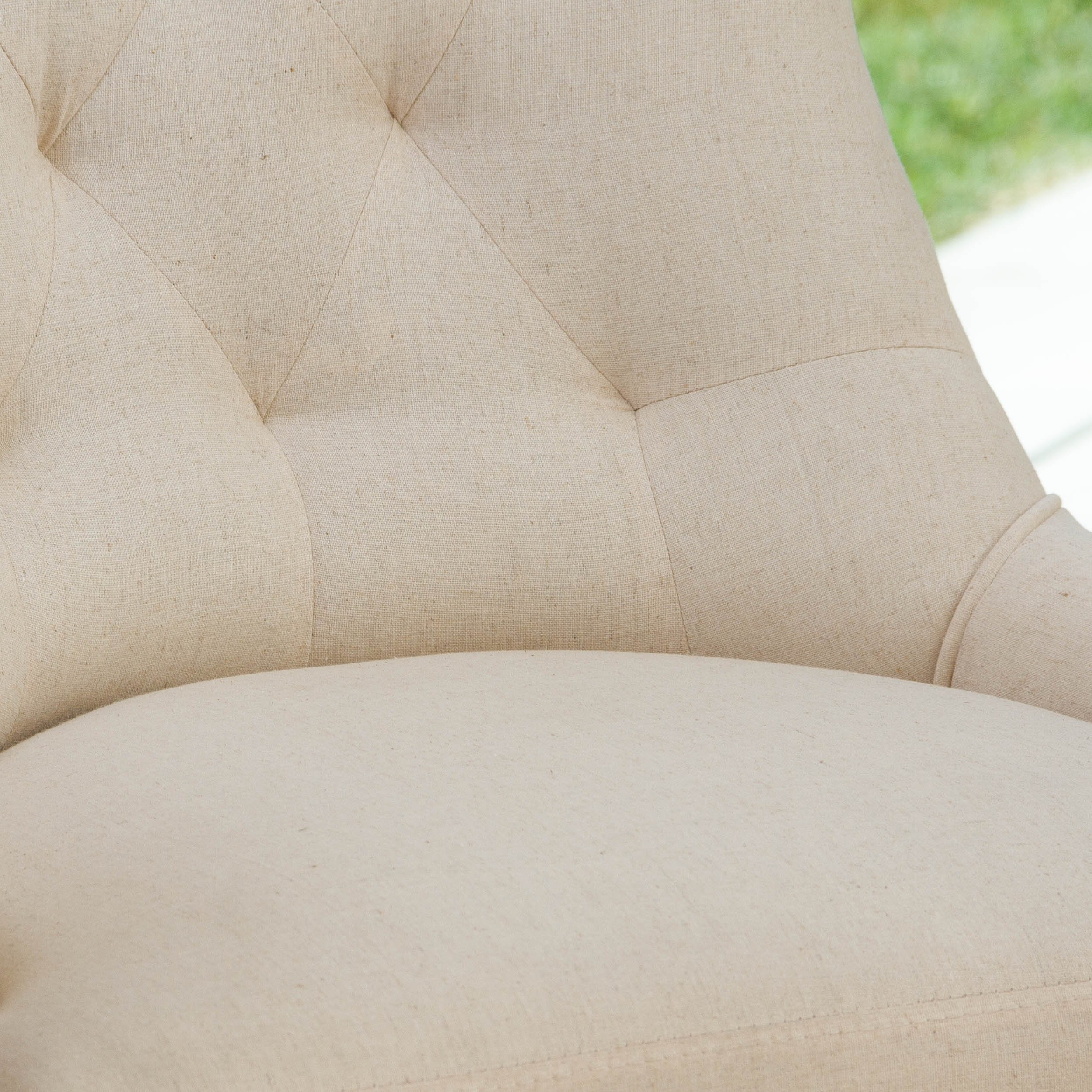 Christopher Knight Home 295013 Hayden Tufted Fabric Dining/Accent Chair (Set of 2) Beige