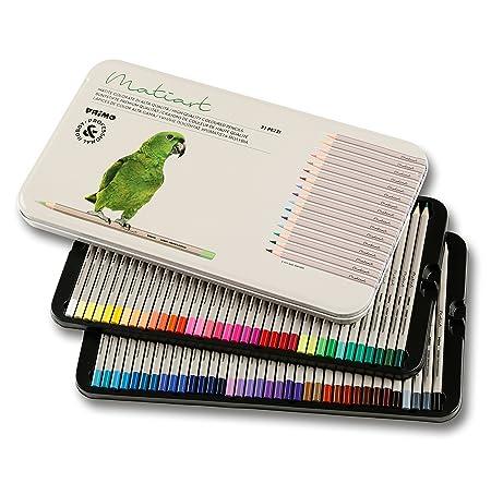 Juego de 72 lápices de colores Primo, para pintar, dibujar, colorear, aptos para niños, con mango ergonómico hexagonal y mina de alta resistencia a la ...