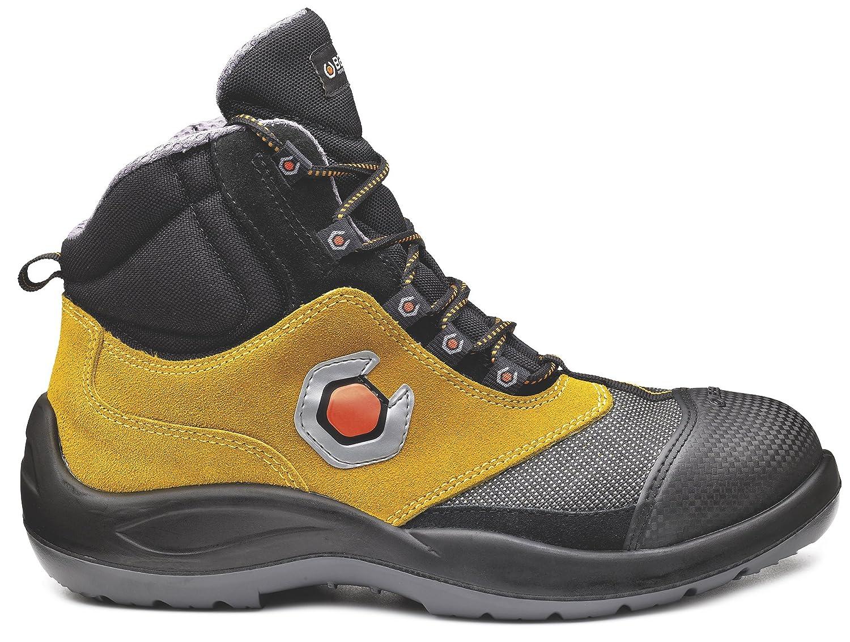 Base bo461 extraflex S3 SRC antideslizante de titanio para hombre con cordones botas de seguridad 4,5 UK|Negro/Amarillo