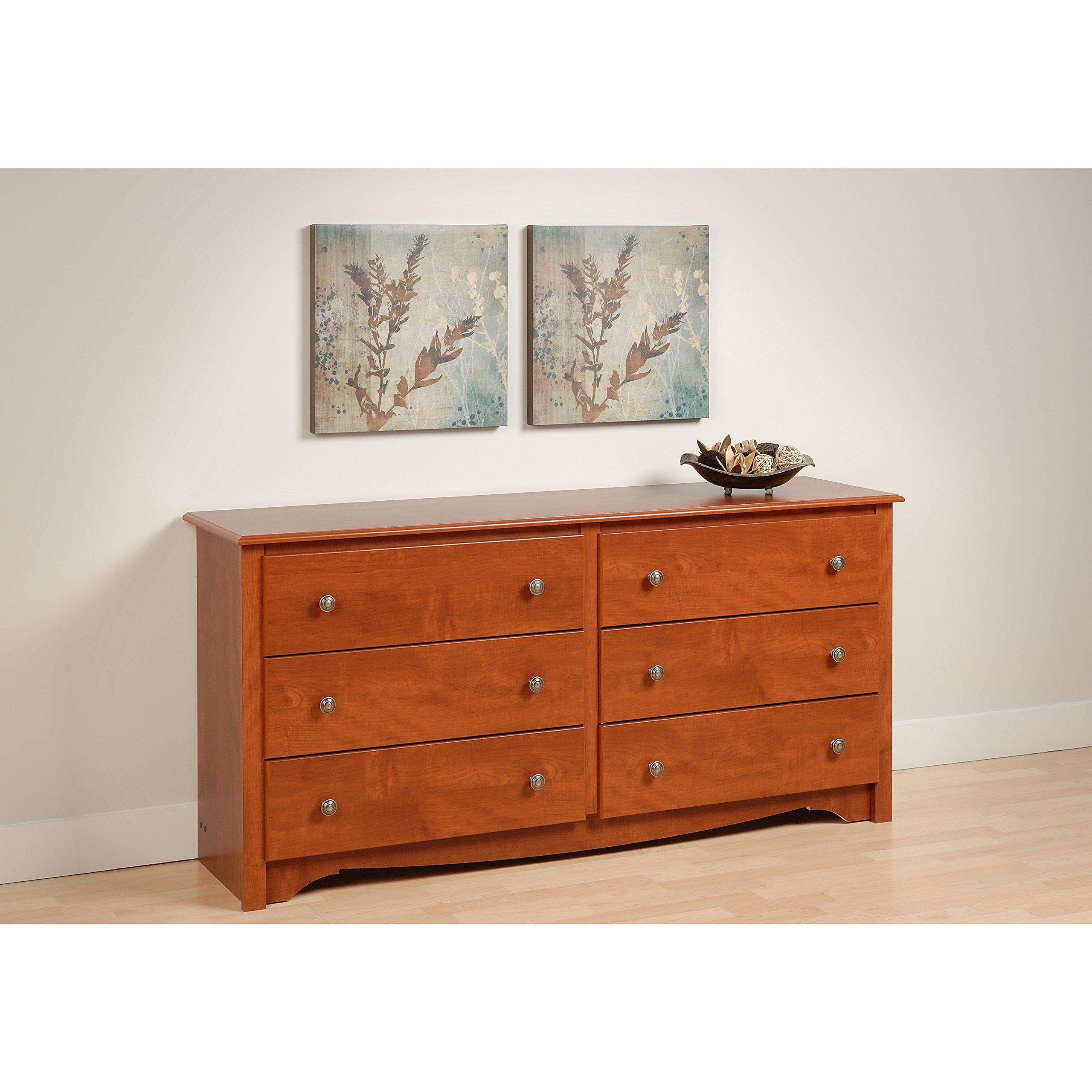 Cherry Monterey 6 Drawer Dresser by Prepac