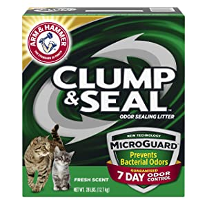 Arm & Hammer Clump & Seal MicroGuard Cat Litter, 28lb