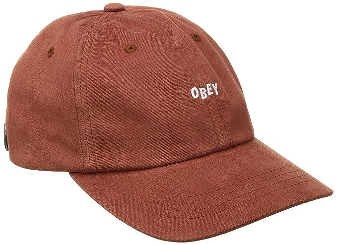 Obey Gorra de béisbol - para hombre naranja Rust Talla única: Amazon.es: Ropa y accesorios