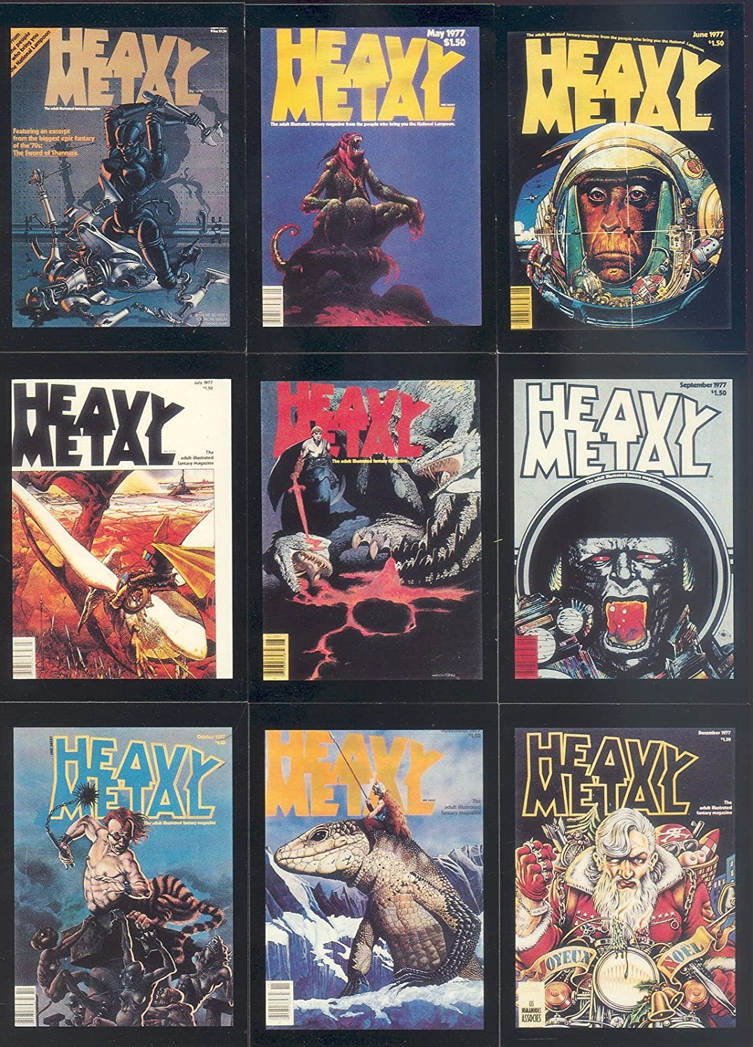 HEAVY METAL COVERS SERIES 1 1991 COMIC IMAGES COMPLETE BASE CARD SET OF 90 FA