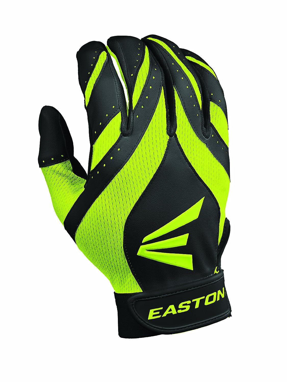 Easton sinergia II Fastpitch guantes de bateo de la mujer - A121693PRS, Negro/Óptico Easton Sports Inc.