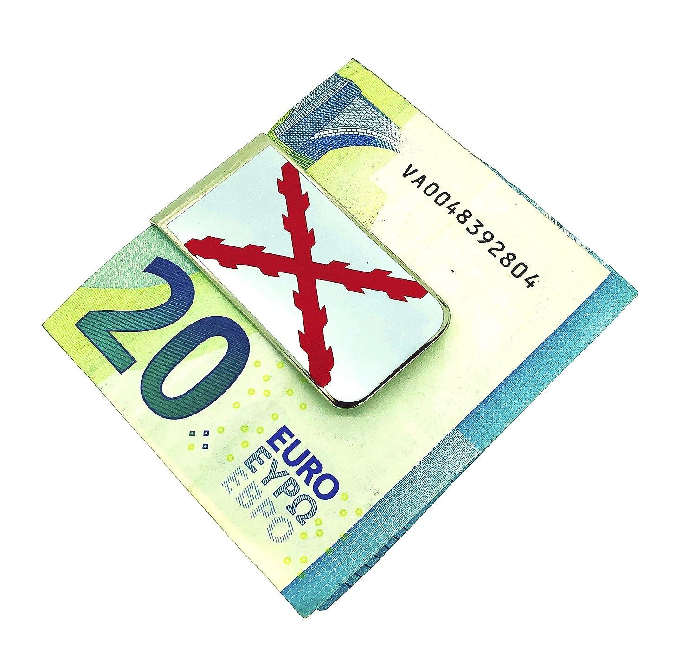 Money Clip Pinza de Billetes Bandera de la Cruz de Borgo/ña San Andr/és