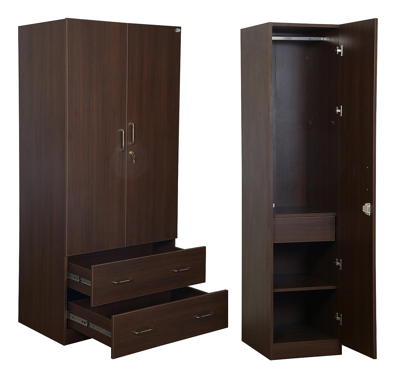 Ann Interiors Bedroom Wardrobe Set Brown Set Of 2 Wardrobes