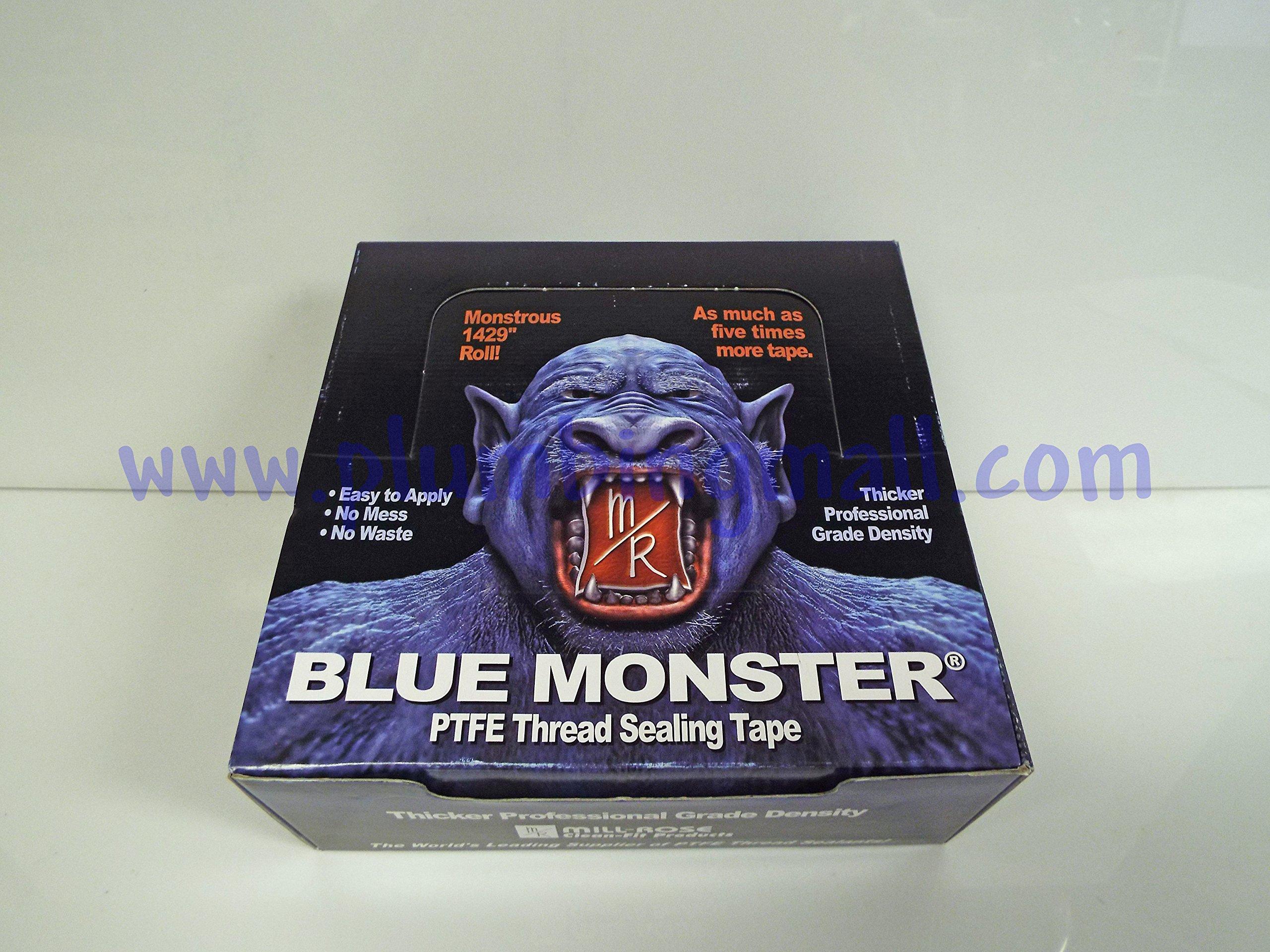 Blue Monster Teflon Tape - 3/4''x1,429'' by Milrose