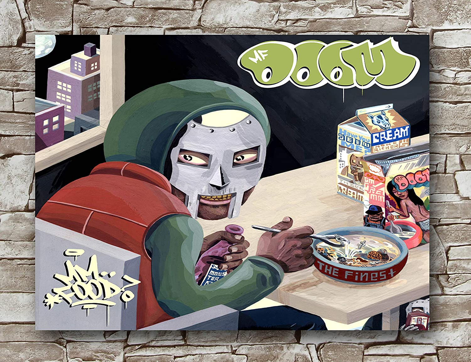 Huawuque MF Doom Poster Standard Size | 18-Inches by 24-Inches |MF Doom Posters Wall Poster Print