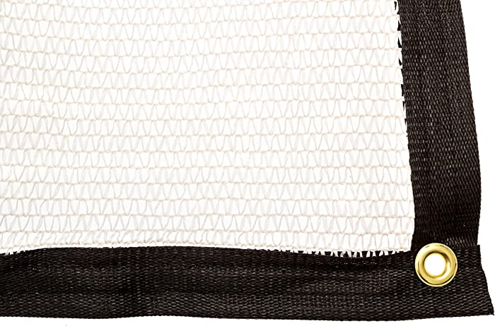 Be Cool Solutions 40% White Outdoor Sun Shade Canopy: UV Protection Shade Cloth| Lightweight, Easy Setup Mesh Canopy Cover with Grommets| Sturdy, Durable Shade Fabric for Garden, Patio & Porch 6'x12'