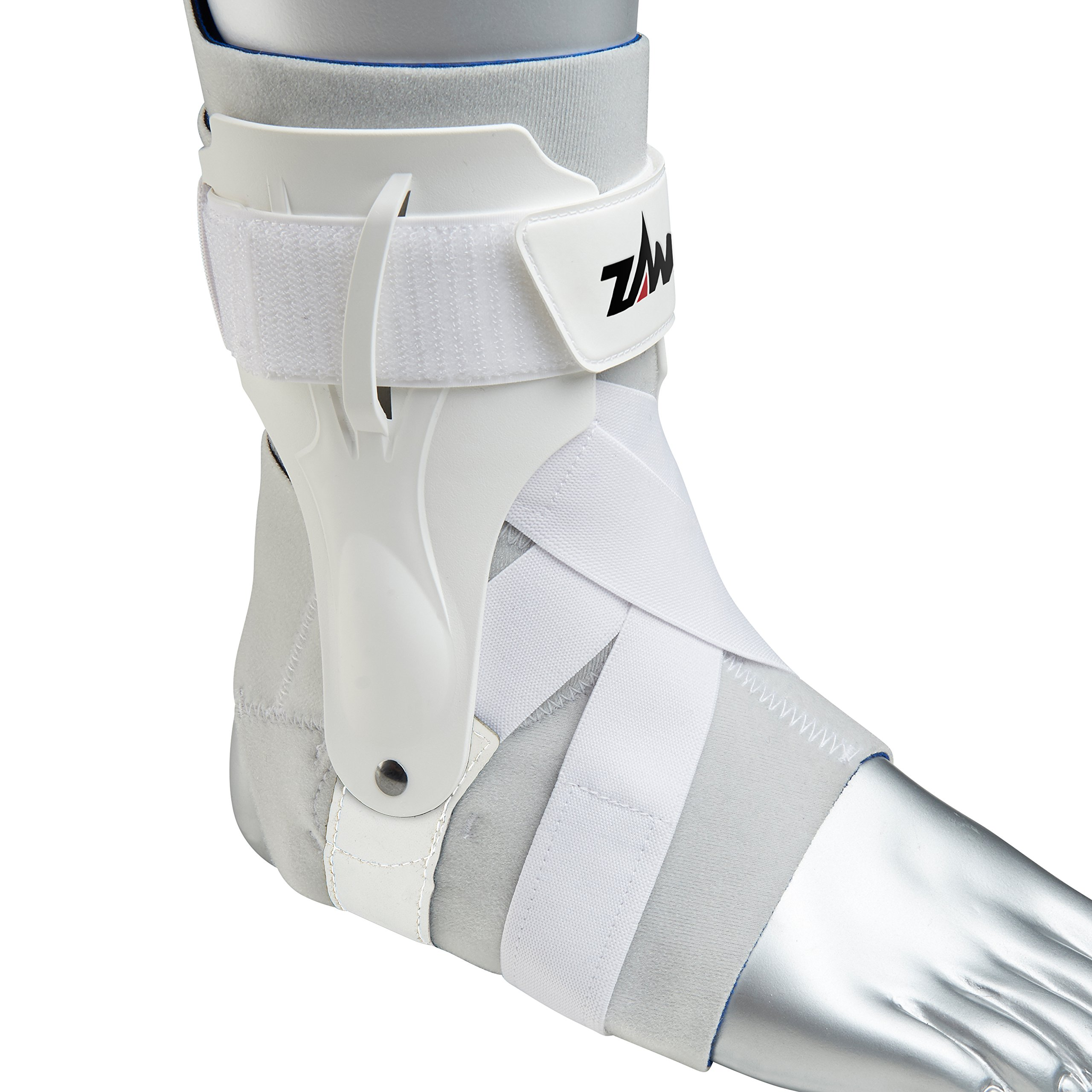 Zamst Ankle Brace Support Stabilizer: A2-DX Mens & Womens Sports Brace for Basketball, Soccer, Volleyball, Football & Baseball,White,Left,X-Large by Zamst (Image #2)