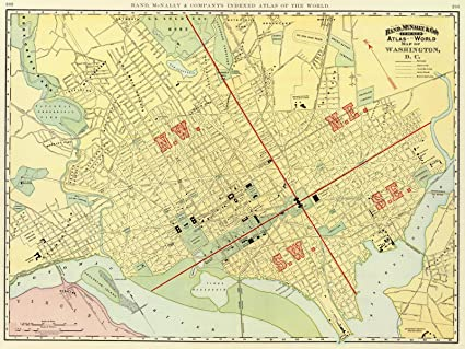 Amazon.com: World Atlas | 1897 Washington, D.C. | Historic Antique ...