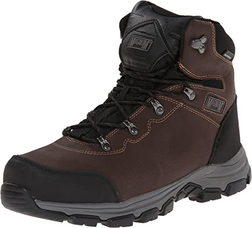 NEW MENS MAGNUM LEATHER SAFETY WORK BOOTS COMPOSITE TOE CAP SECURITY ANKLE SIZE
