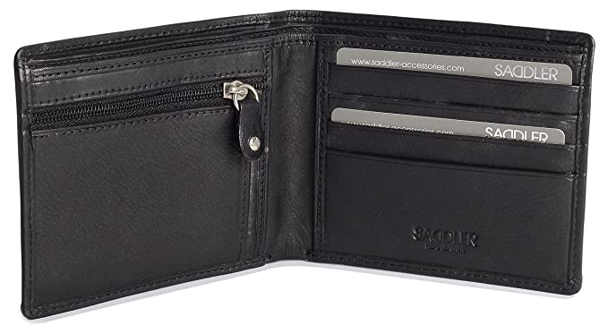 8a5f1d881e Image Unavailable. Image not available for. Color  SADDLER Soft Nappa  Leather 10 Credit Card Billfold ...