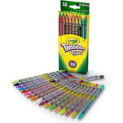 Crayola 18 Ct Twistables Colored Pencils: Toys & Games