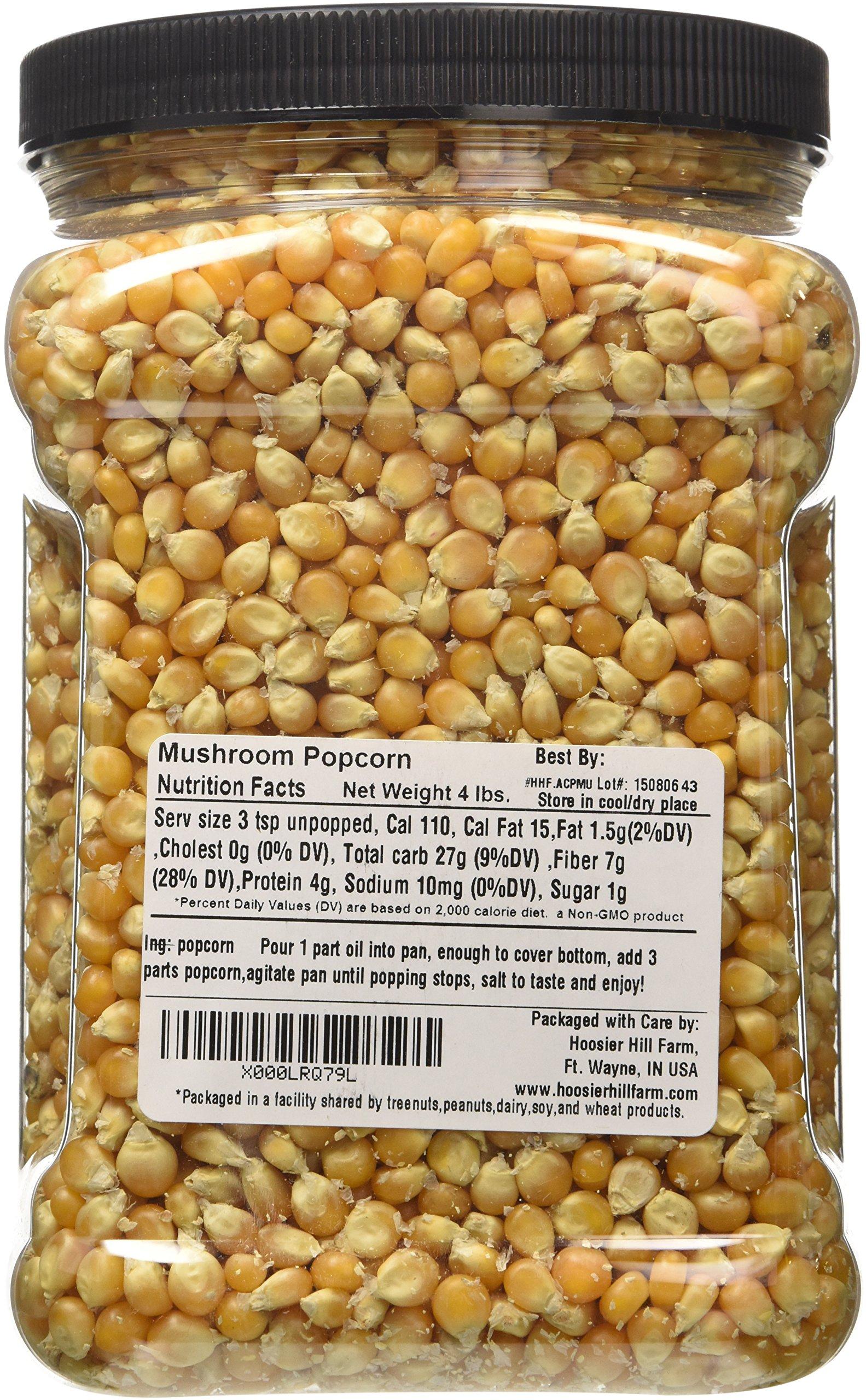 Hoosier Hill Farm Gourmet Mushroom NON-GMO Popcorn Lovers, 4 Pound by Hoosier Hill Farm