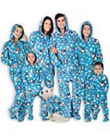 Footed Pajamas Family Matching Winter Wonderland Hoodie Fleece
