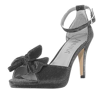 80554f4bd9 Amazon.com | Amiana 15-A5259 Ankle Strap High Heeled Sandal | Heeled ...