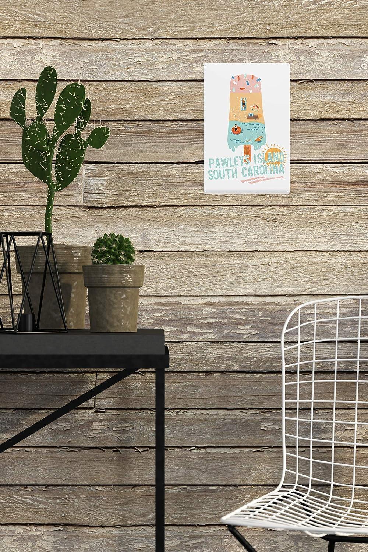 Pawleys Island 24x36 SIGNED Print Master Art Print - Wall Decor Poster Summer Popsicle Scene 84960 South Carolina