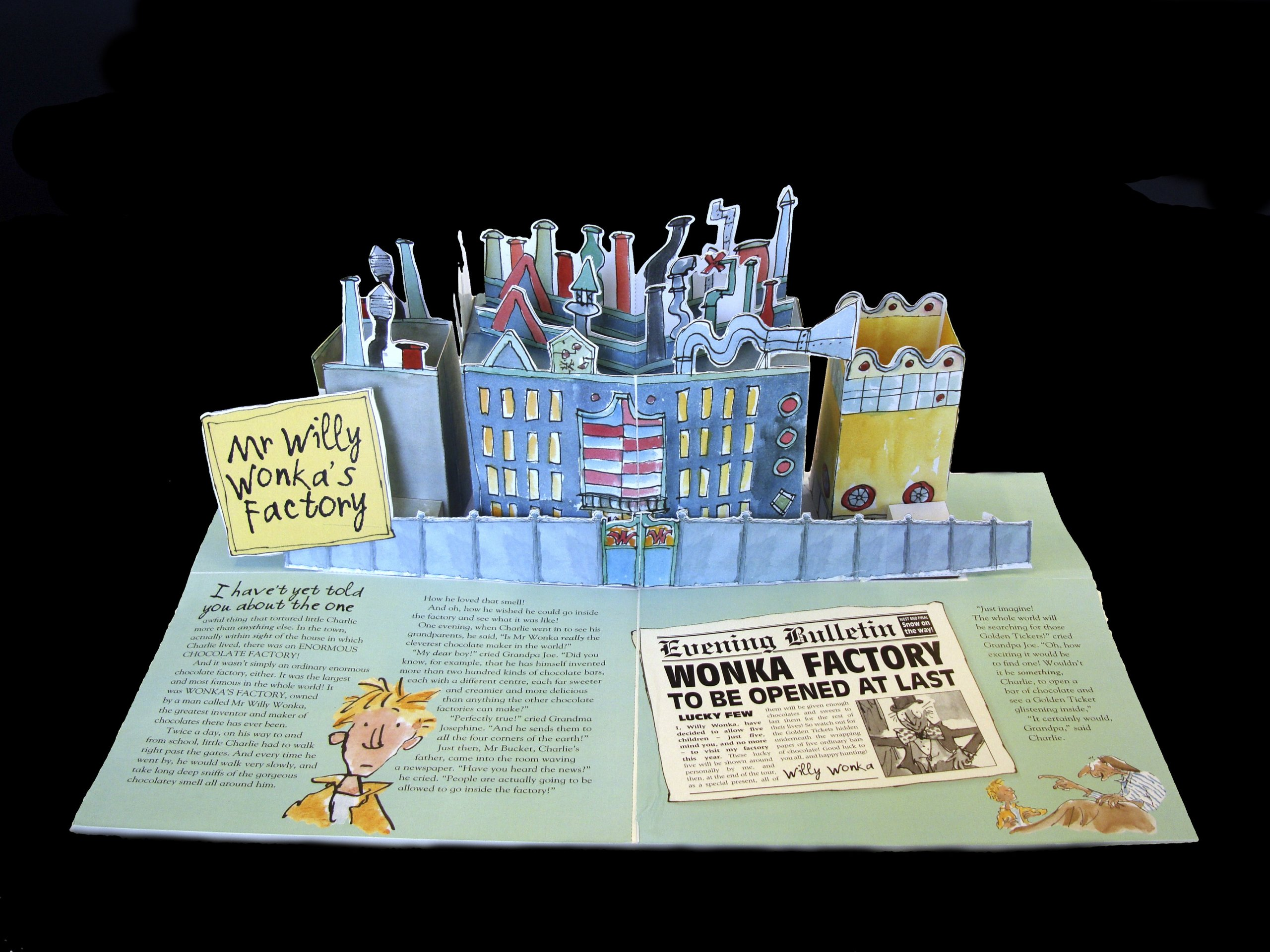 charlie and the chocolate factory pop up book roald dahl penguin  charlie and the chocolate factory pop up book roald dahl penguin modern classics roald dahl 9780141328874 com books