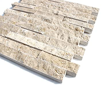 Exceptional Travertine Light XL Boden Wand Naturstein Mosaik Travertin Hochwertig   1  Matte