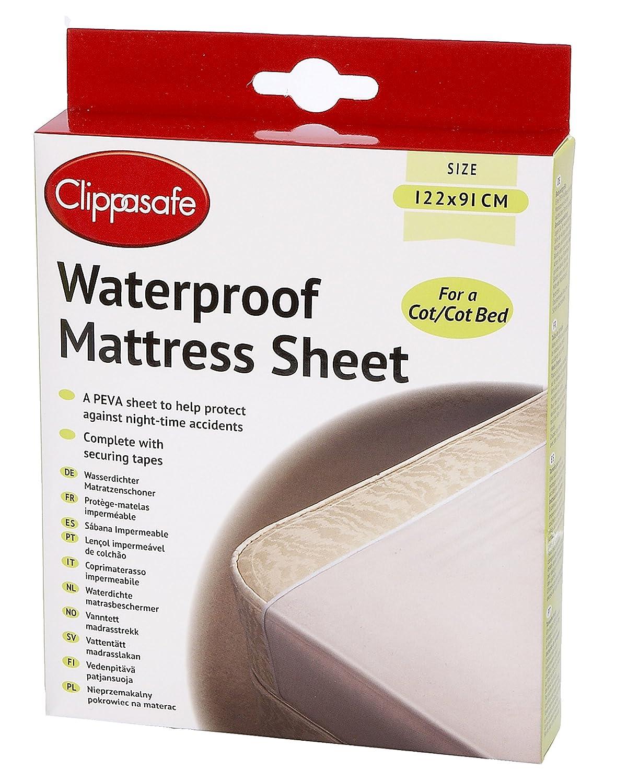 Clippasafe - Lámina impermeable para colchón de cuna Clippasafe Ltd CL281
