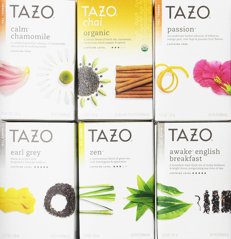 Tazo Assorted Tea Sampler 20ct (Pack of 6)