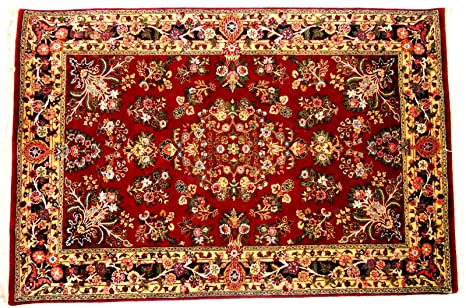 Amazon Com 4 X 6 Persian Design Handknotted Pure Wool Area Rug