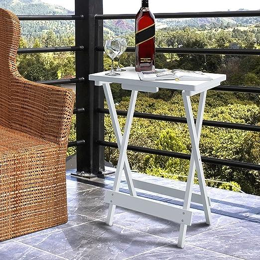 3 opinioni per Lifewit Tavolino portatile in legno per TV Spuntino Tavolino Pieghevole per
