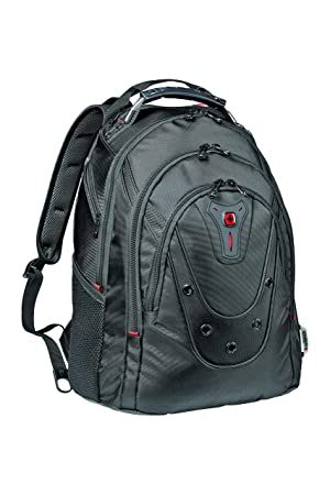 b13a01a599 Wenger 605081 IBEX 16 quot  Backpack Slim with shock absorbing shoulder  straps In Black  19