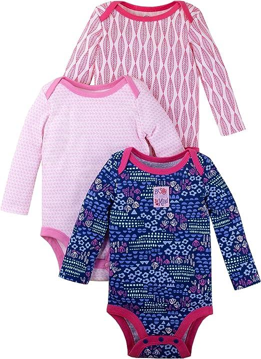 Lamaze Organic Baby Girls Lamaze Baby Organic 5 Pack Shortsleeve Bodysuits Pink 18M