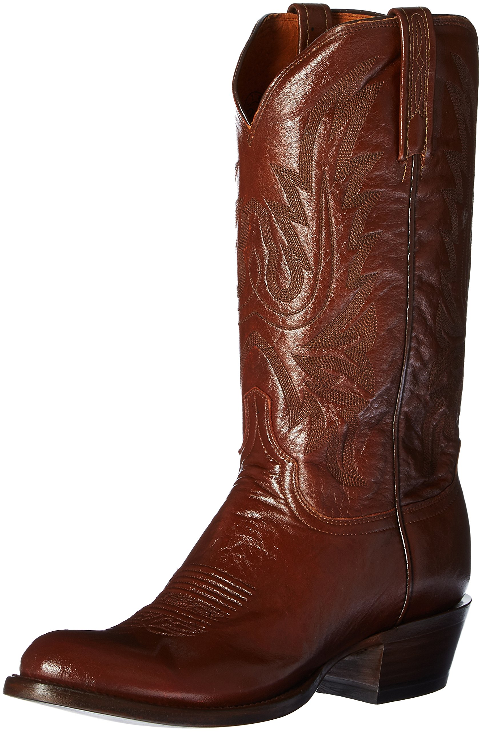 Lucchese Bootmaker Men's Carson-Ant Bn Lonestar Calf Cowboy Riding Boot, Antique Brown, 10 D US
