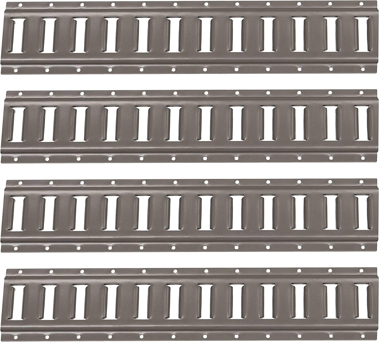 12 Gauge Steel 2 Foot Length E Track Rail Galvanized Finish 4 Pack Easily Secure Cargo in an Enclosed Van Trailer US Cargo Control Horizontal E Track