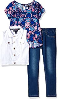 ea0f4ac6098 Limited Too Girls' Fashion Top, Vest and Pant Set (More Styles Available)