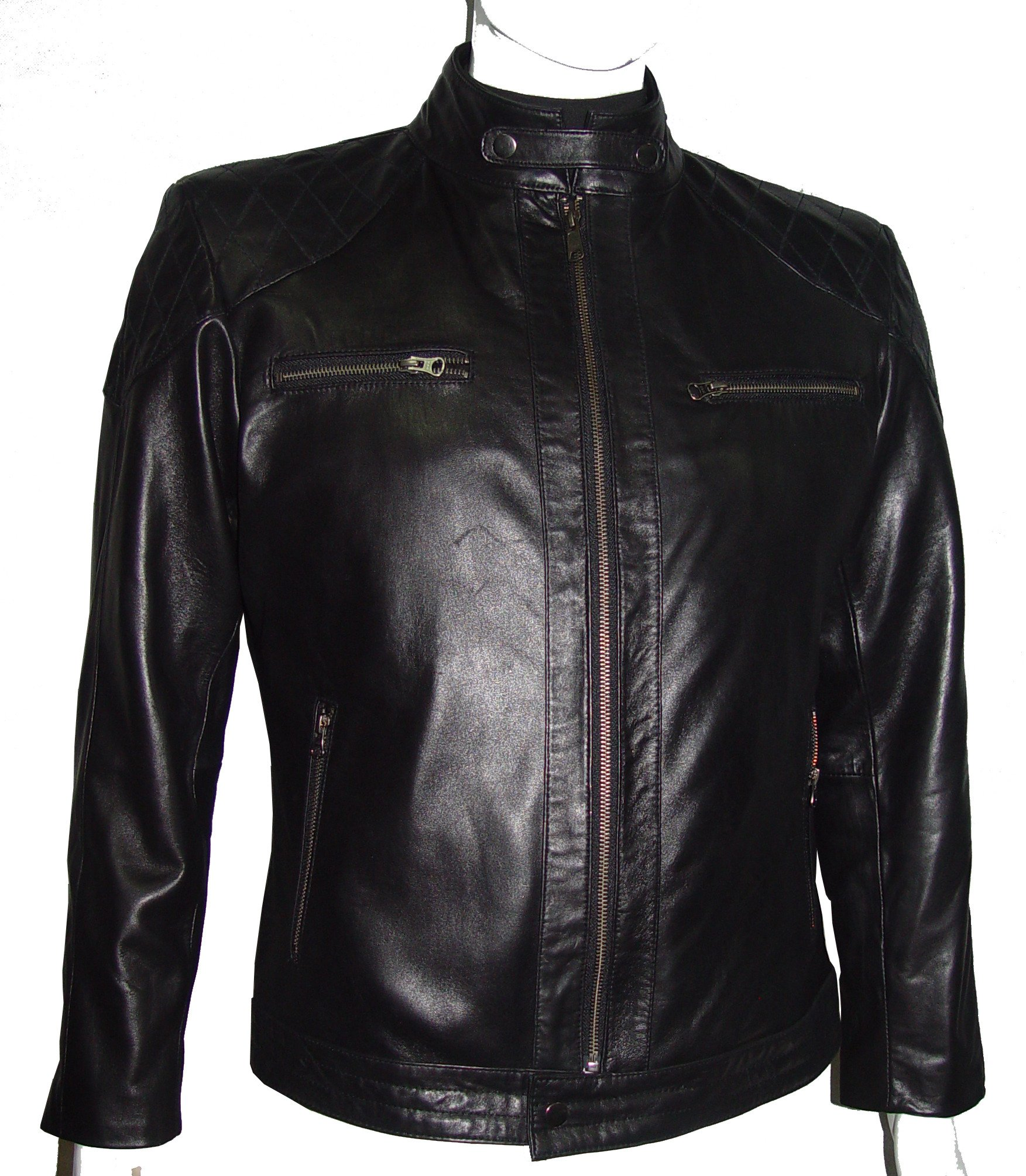 Nettailor 1164 Mens Leather Biker Jackets Cool Fine Quilted Jacket & Coats