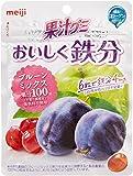明治 果汁グミおいしく鉄分プルーンミックス 76g%×6袋