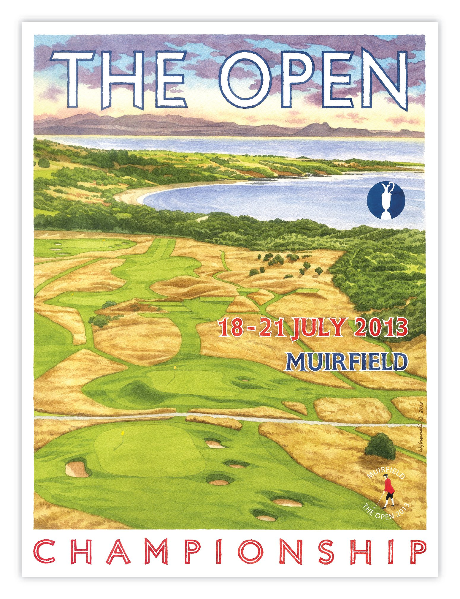 Signed 2013 Open Championship Official Poster by Lee Wybranski