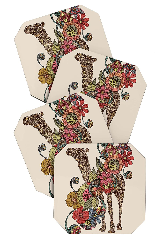 Deny Designs Valentina Ramos Easy Camel Coasters Set of 4