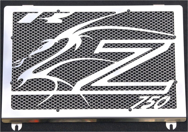 K/ühlerabdeckung Kawasaki Z750 200306 design Dragon K/ühlerverkleidung silberiges Schutzgitter
