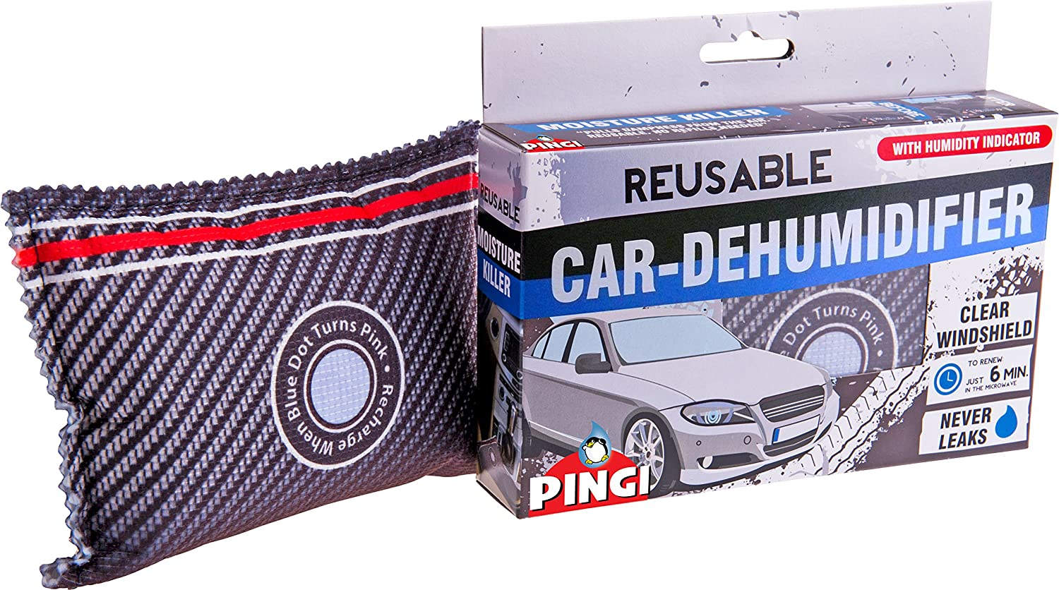 Pingi LV2-A350 Dehumidifer -For Car and Home - Twin Pack - 699g - Black/Grey