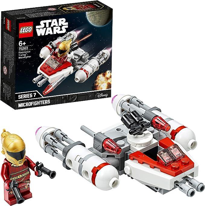 LEGO Star Wars - Microfighter: Ala-Y de la Resistencia, Juguete de la Película Guerra de las Galaxias Episodio 9, con Torreta Giratoria, Incluye Minifigura de Zorii Bliss (75263): Amazon.es: Juguetes y juegos