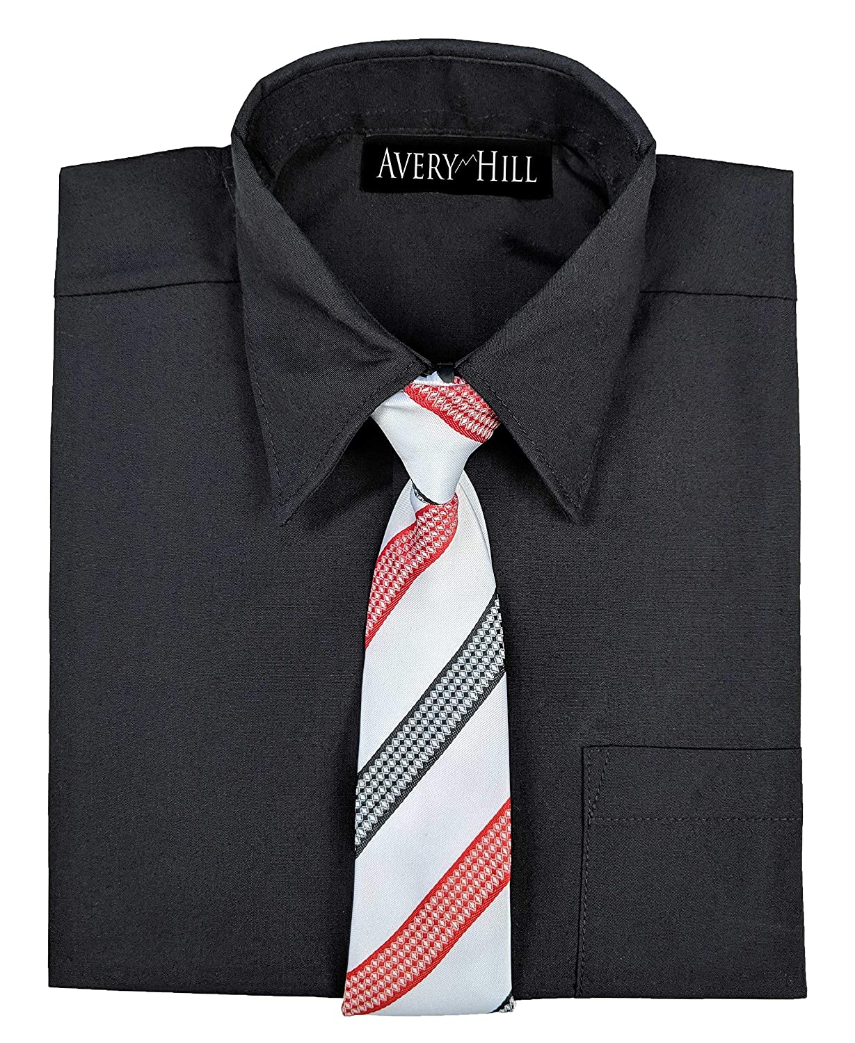 Avery Hill Boys Short Sleeve Dress Shirt Windsor Tie
