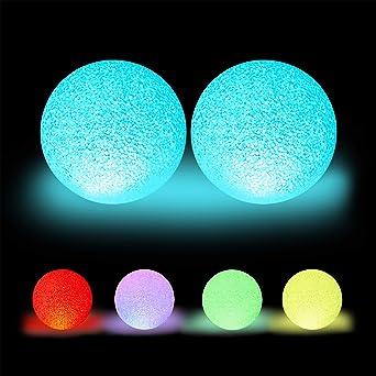 3er Set Außen Lampen Outdoor Dekoration Kugel Rot Blau Grün Durchmesser 15 cm