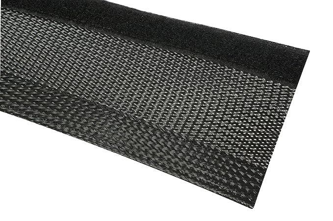 Geflechtschlauch Klettverschluss 36-40mm Bündel grau Gewebeschlauch