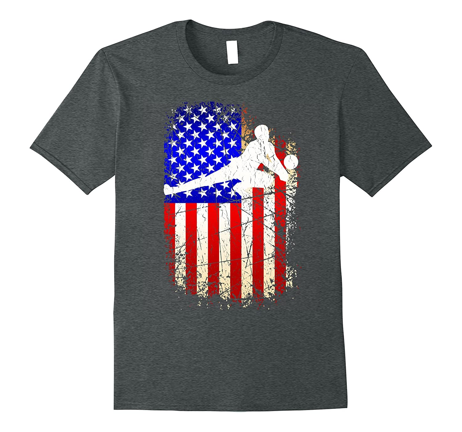 4th of July Volleyball Shirt Patriotic American Flag T-Shirt