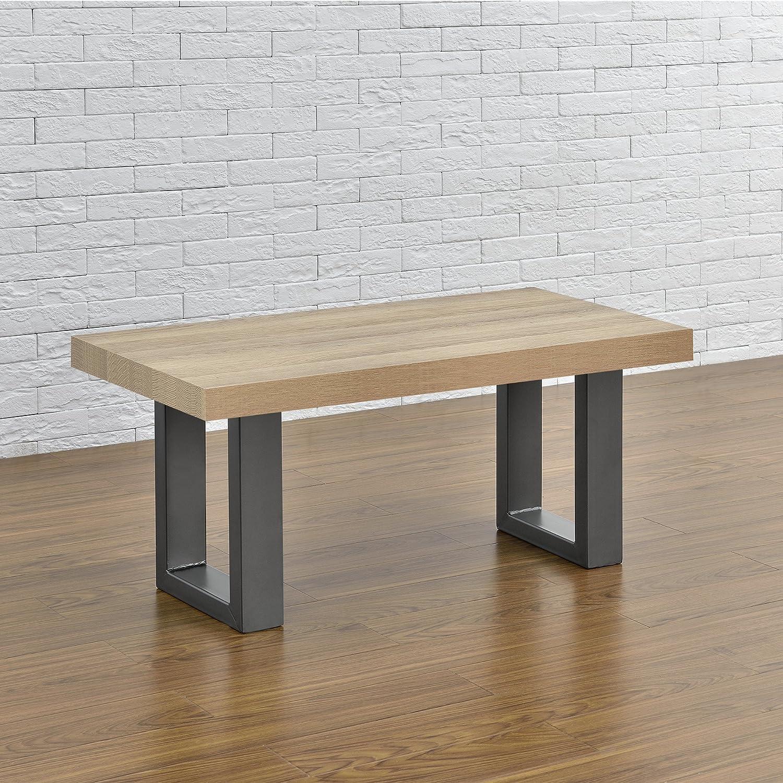 [en.casa]®] 2 x Conjunto de Patas de Mesa - Set de 2X Patas de Mesa - Metal - Patas de los Muebles - 30 x 43 cm - para Banco o para Mesa de Centro - ...