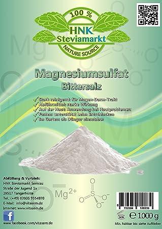 Sales de Epsom - sulfato de magnesio 1 kg - ayuda natural para el ayuno y la cura del ayuno - laxantes - limpieza del hígado: Amazon.es: Belleza